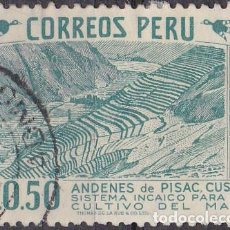 Sellos: 1953 - PERU - CUZCO - SISTEMA INCAICO CULTIVO DEL MAIZ - YVERT 433. Lote 149666886
