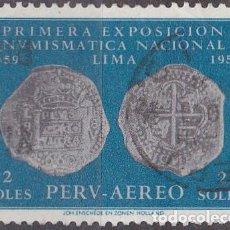 Sellos: 1961 - PERU - EXPOSICION NUMISMATICA NACIONAL - YVERT PA 161. Lote 149667646