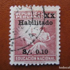 Sellos: PERU, 1966 SELLO DE BENEFICENCIA, YVERT 5. Lote 156549130