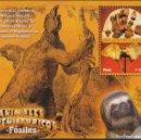 Sellos: PERÚ HOJITA BLOCK 40 2007 ANIMALES PREHISTÓRICOS FAUNA FÓSILES MEGATHERIUM MNH. Lote 168183964