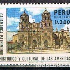 Sellos: PERU Nº 1353, CAJAMARCA, PATRIMONIO HISTÓRICO Y CULTURAL DE AMÉRICA, NUEVO ***. Lote 176350388