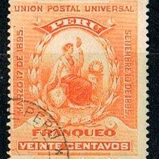 Sellos: PERU Nº 98, TOMA DEL PODER DEL RESIDENTE NICOLÁS PIEROLA, USADO. Lote 176422153