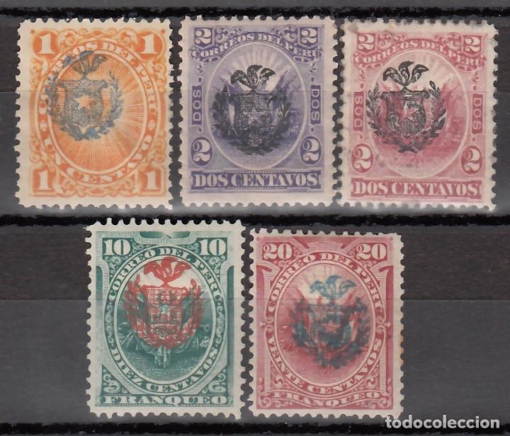PERU, 1882 YVERT Nº 42 / 47 /*/ (Sellos - Extranjero - América - Perú)