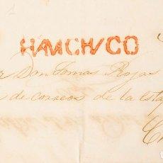 Sellos: PERÚ, PREFILATELIA. SOBRE YV . 1851. HUAMACHUCO A CHACHAPOYAS. MARCA HUAMACHVCO (COLARETA 1) Y PORT. Lote 183126561