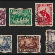 Sellos: PERÚ - CLÁSICOS. YVERT NSº 297A/02 USADOS Y 2 SELLOS MUY DEFECTUOSOS. Lote 191611157