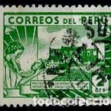 Sellos: PERÚ SCOTT: 0410-(1945) (COLONIA INFANTIL DE VACACIONES, ANCÓN) USADO. Lote 191649378