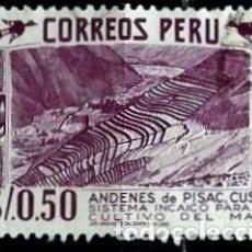 Sellos: PERÚ SCOTT: 0476-(1960) (ANDENES DE CULTIVO INCAICO DEL MAIZ EN PISAC, CUSCO) USADO. Lote 191650537