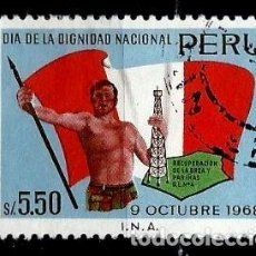 Sellos: PERÚ SCOTT: 0516-(1969) (DIA DE LA DIGNIDAD NACIONAL) USADO. Lote 191650850