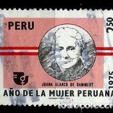 Sellos: PERÚ SCOTT: 0627-(1975) (AÑO DE LA MUJER PERUANA: JUANA ALARCO DE DAMMERT) USADO. Lote 191651090