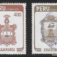 Sellos: PERÚ. YVERT NSº 778/79 NUEVO Y USADO. UN SELLO DEFECTUOSO. Lote 195315206