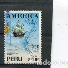 Sellos: SELLOS DEL PERU DESCUBRIMIENTO DE AMERICA COLON. Lote 204628348