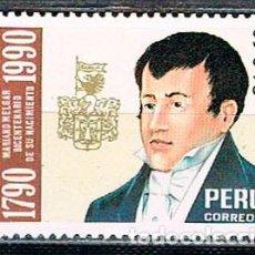 Sellos: PERU 1448, II CENTENARIO DEL NACIMIENTO DE MARIANO MELGAR, 1790-1815. POETA, NUEVO ***. Lote 210135980