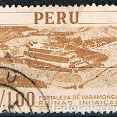 Sellos: PERU Nº 518, RUINAS INCAS, FORTALEZA DE PARAMONGA. USADO. Lote 210463101