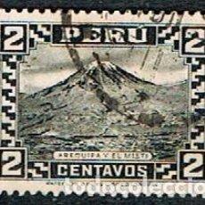 Sellos: PERÚ Nº 264, 1º ANIVERSARIO DEL GOBIERNO CONSTITUCIONAL.: AREQUIPA Y VOLCÁN MISTI., USADO. Lote 210463976