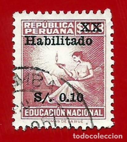 PERU. 1966. TASA POSTAL HABILITADA (Sellos - Extranjero - América - Perú)