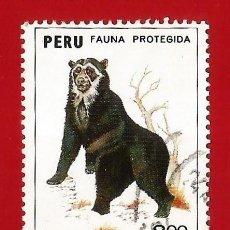 Selos: PERU. 1973. FAUNA PROTEGIDA. OSO DE ANTEOJOS. Lote 211912867