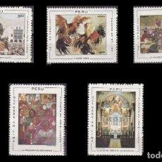 Selos: PERU 1970 - FIESTAS DE OCTUBRE EN LIMA - YVERT Nº 277-281 AEREOS. Lote 216912830