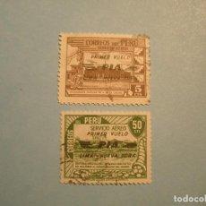 Sellos: PERU - SERVICIO AEREO - SOBRECARGA (PRIMER VUELO PIA LIMA NUEVA YORK. Lote 221305068