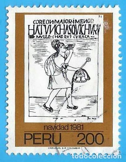 PERU. 1981. NAVIDAD. MENSAJERO INCA (Sellos - Extranjero - América - Perú)