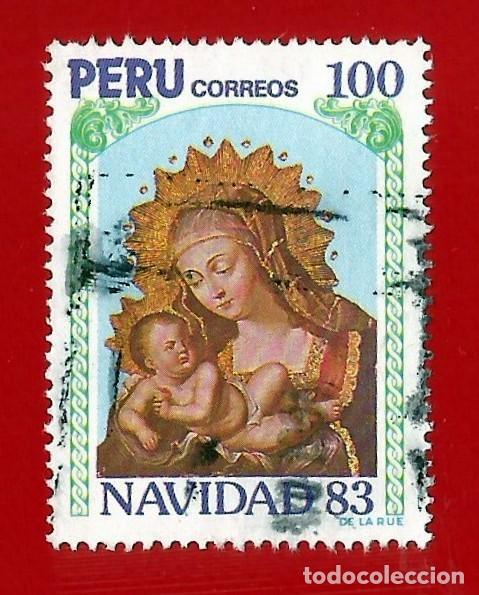 PERU. 1983. NAVIDAD. LA VIRGEN Y EL NIÑO (Sellos - Extranjero - América - Perú)