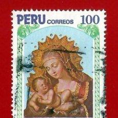 Sellos: PERU. 1983. NAVIDAD. LA VIRGEN Y EL NIÑO. Lote 221828482