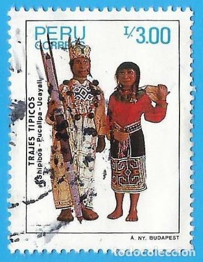 PERU. 1987. TRAJES TIPICOS. SHIPIBOS. PUCALIPA. UCAYALI (Sellos - Extranjero - América - Perú)