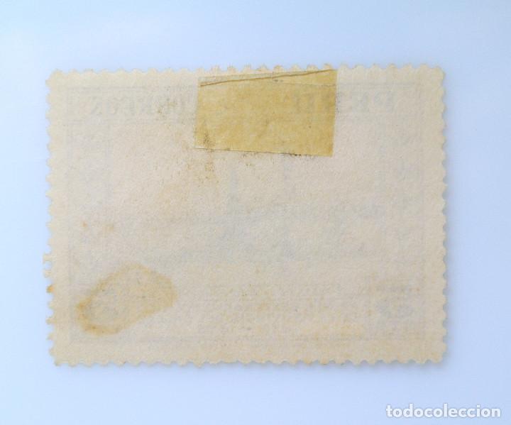 Sellos: SELLO POSTAL PERÚ 1936, 5 cts, PLAZA DE LA INDEPENDENCIA, CENTENARIO FUNDACION DEL CALLAO, USADO - Foto 2 - 237035650