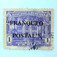 Sellos: SELLO POSTAL PERÚ 1941, 1 S, ESTACIÓN RADIO NACIONAL,OVERPRINT FRANQUEO POSTAL, USADO. Lote 237187345