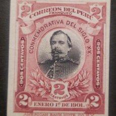 Sellos: O) 1901 PERÚ, PRUEBA DE DADO. INDIA PAPER, MIGUEL L GRAU - ALMIRANTE, GUERRA DEL PACÍFICO - PRECURS. Lote 237366070
