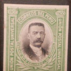 Sellos: O) 1901 PERÚ, PAPEL INDIA PRUEBA DE DADO, EDUARDO LOPEZ DE LA ROMAÑA, GUERRA DEL PACÍFICO -INGENIERO. Lote 237382635