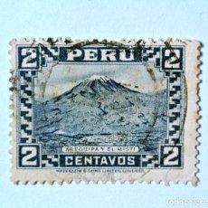 Sellos: SELLO POSTAL PERÚ 1932, 2 CTS, AREQUIPA Y EL MISTI, USADO. Lote 237490435