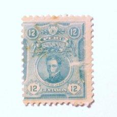 Sellos: SELLO POSTAL PERÚ 1909, 12 CT, JOSÉ DE LA MAR, USADO. Lote 240687880