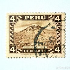 Sellos: SELLO POSTAL PERÚ 1932, 4 CT, AREQUIPA Y EL MISTI, CONMEMORATIVO, USADO. Lote 241086665