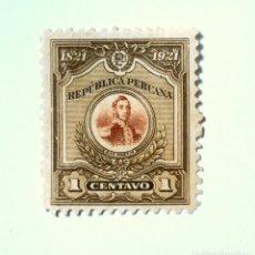 Sellos: SELLO POSTAL PERÚ 1921, 1 CT, SAN MARTIN , CONMEMORATIVO, SIN USAR. Lote 241089785