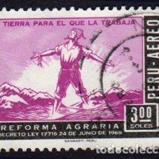 Selos: AMÉRICA. PERÚ. MONUMENTO AL AGRICULTOR INDÍGENA. YTPA247. USADO SIN CHARNELA. Lote 255454640