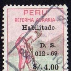 Sellos: AMÉRICA. PERÚ. REFORMA AGRARIA. YTP498. USADO SIN CHARNELA. Lote 255477350