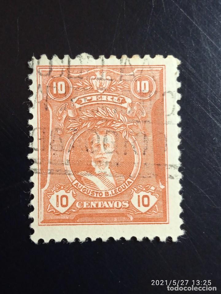 PERU 10 CTS AUGUSTO B. AÑO 1925. (Sellos - Extranjero - América - Perú)