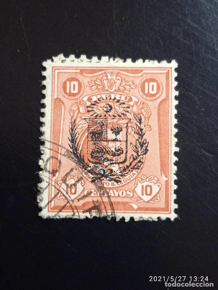 PERU 10 CTS AUGUSTO B. AÑO 1925.. (Sellos - Extranjero - América - Perú)