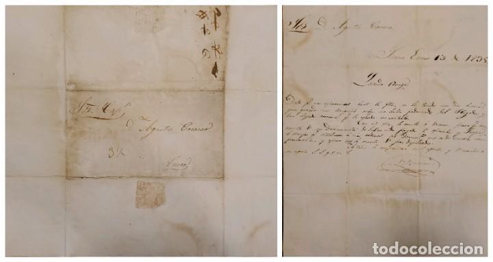 O) 1839 PERÚ, PREFILATÉLICO, PRESTAMP, CARTA COMPLETA, 3 1/2 STRIKE (Sellos - Extranjero - América - Perú)