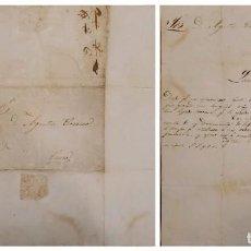 Sellos: O) 1839 PERÚ, PREFILATÉLICO, PRESTAMP, CARTA COMPLETA, 3 1/2 STRIKE. Lote 267692289