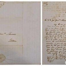 Sellos: O) 1848 PERU, PREPHILATELIC, PRESTAMP, COMPLETE LETTER, HACIENDA DE LA PALMA, XF. Lote 267692609