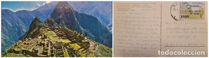 O) 1973 PERÚ, MANO, MAÍZ. ALIMENTOS, LEY DE REFORMA AGRARIA, SOBRECARGA DE IMPRESIONES, MACHU PICCHU (Sellos - Extranjero - América - Perú)