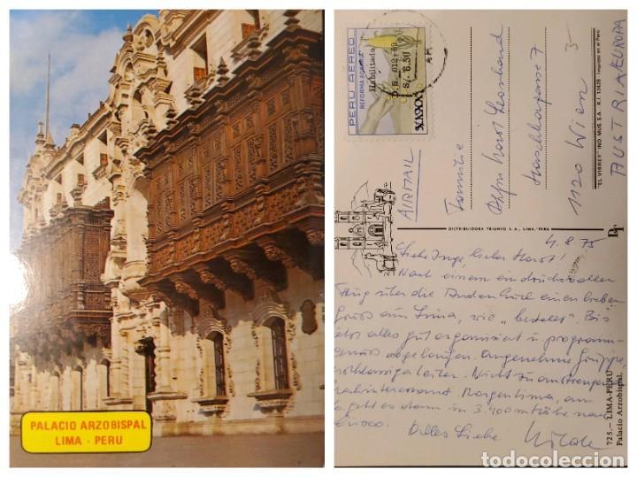 O) 1973 PERÚ, PATRIMONIO MUNDIAL, PALACIO DEL ARZOBISPO, ARQUEOLOGÍA, MUSEO, MANO, MAÍZ. ALIMENTOS, (Sellos - Extranjero - América - Perú)
