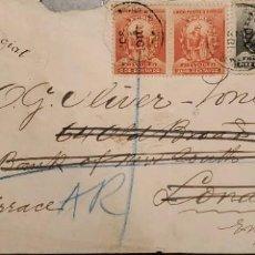 Sellos: O) 1902 PERÚ, PORTADA OFICIAL DE ALCALDIA, MANCO CAPAC, FUNDADOR INCA DYNASTY, FRANCISCO PIZARRO CON. Lote 268176084