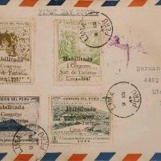Sellos: O) PERÚ 1947, 1ER TURISMO NACIONAL, SE PREPARÓ EL SELLO BÁSICO, PERO NO EMITIÓ, PARA EL CONGRESO DE. Lote 274580063