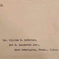 Sellos: O) 1929 PERÚ, SERVICIO CONSULAR, AUGUSTO LEGUIA, SCT 245 10C ORG, ROJO, DE LIMA A EE. UU. Lote 274582608
