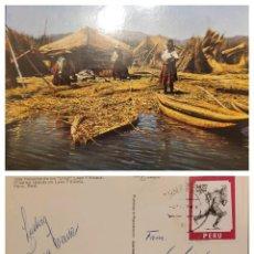 Sellos: O) 1976 PERÚ, UPAE, MENSAJERO INCA, CONGRESO DE LA UNIÓN POSTAL DE LAS AMÉRICAS Y ESPAÑA, INDÍGENA,. Lote 274647998