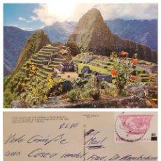 Sellos: O) PERU, MACHUPICCHU, CULTURAL AND NATURAL HERITAGE OF HUMANITY UNESCO, ARCHEOLOGY, INCA CULTURE, AR. Lote 274648298
