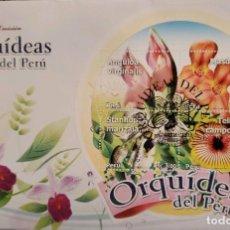 Sellos: O) 2010 PERÚ, FLORES EXÓTICAS, ANGULOA, MASDEVALLIA, STANHOPEA, TELIPOGON, FDC X. Lote 274649033