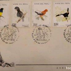 Sellos: O) 1972 PERÚ, PÁJAROS, TROGÓN, AMAZÓNICO, THE-ROCK, TOUCAN, MOTMOT, FDC XF. Lote 275174683